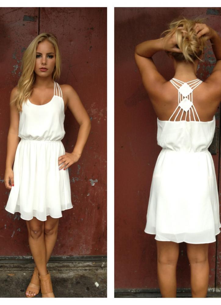 Süßes Sommerkleid  Kleid Dress Sommer Weiß Kurz
