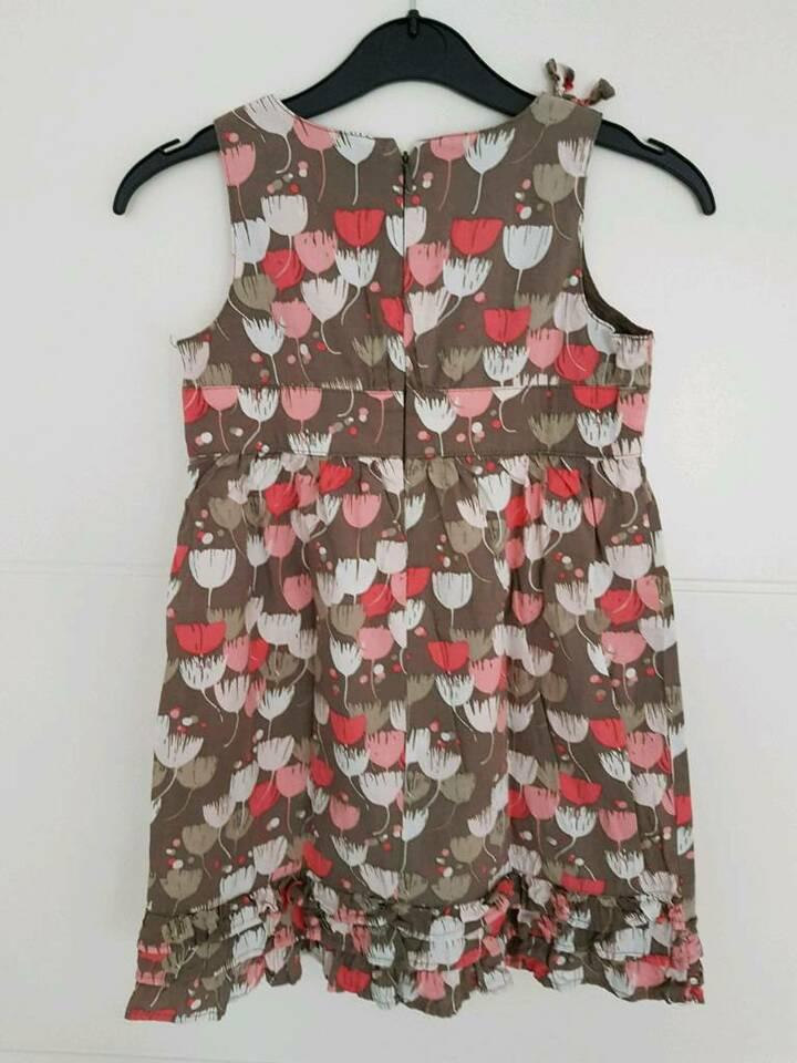 Süßes Vertbaudet Kleid Mit Schleife Und Rüschen Gr 126