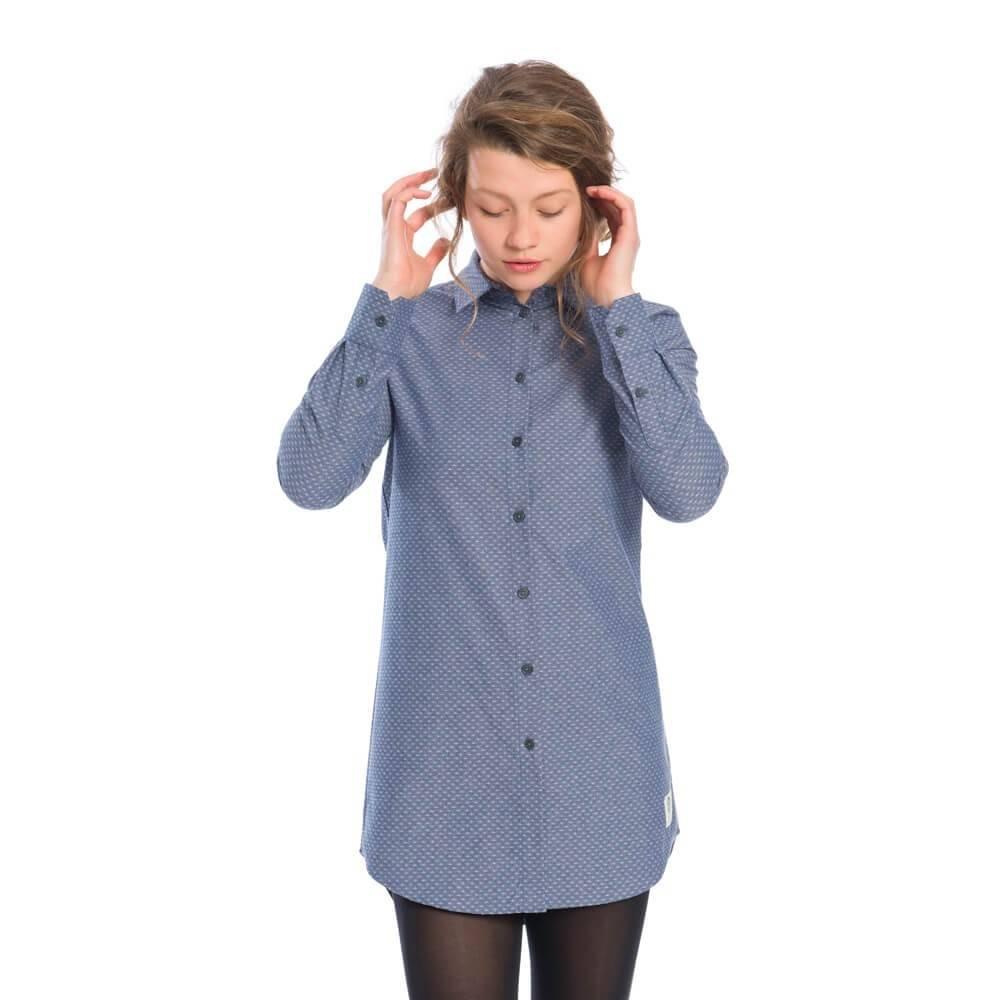 Swarms Hemdkleid Damen Jeansblau  Bleed