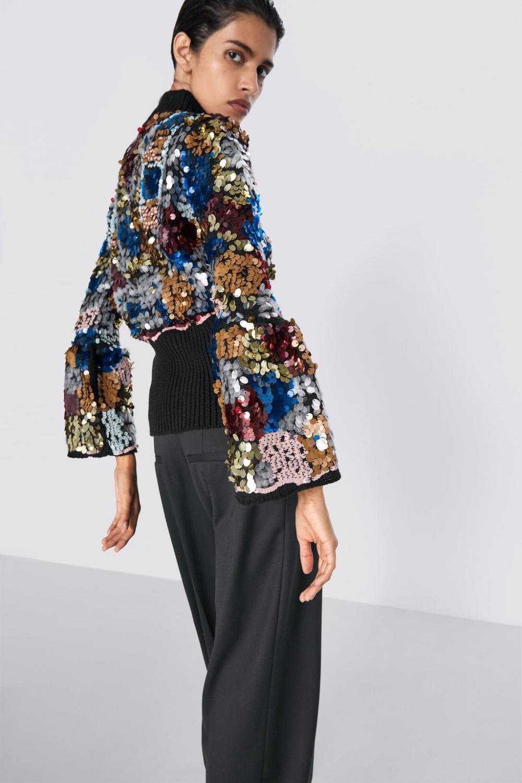 Sweter Z Cekinami  Premiumkobieta  Zara Polska