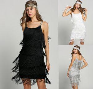 Swing Abendkleid 20Er Jahre Kleid Charleston Fransen
