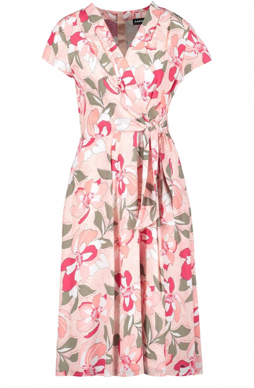 Taifun Floral Print Wrap Effect Dress  Dresses From Shirt