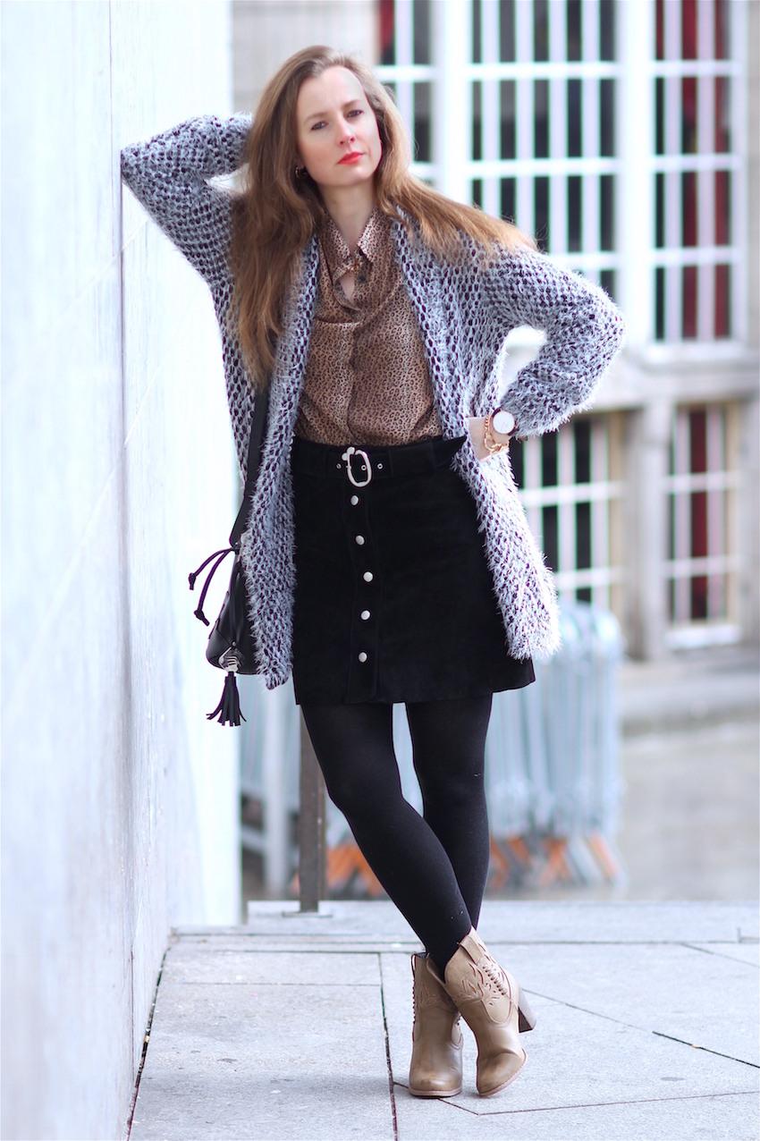 Takko Fashion Leopard Bluse Zara Wildleder Rock Und