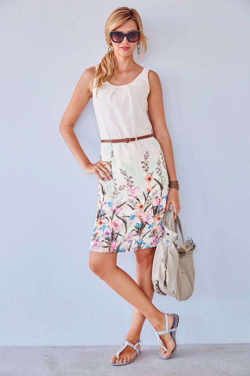 Tamaris Sommerkleid »Aus Luftigem Chiffon« Im Online Shop