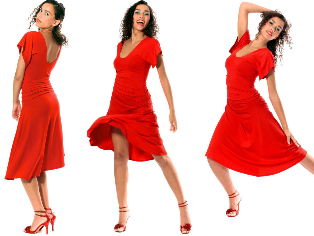 Tango Rot Salsa  Tangokleid Feuerland Ab Sofort Bei