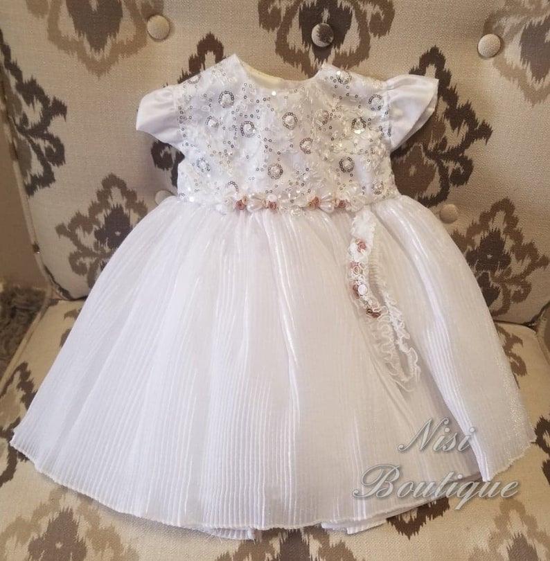 Taufe Kleid Taufe Kleid Baby Mädchen Weißes Kleid
