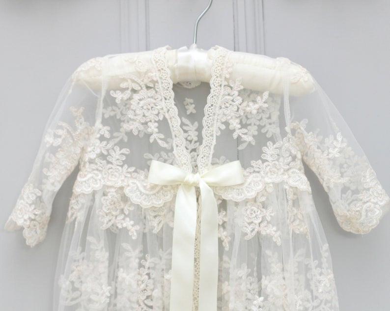 Taufkleid Charlotte Taufe Kleid Segen Kleid Taufe  Etsy