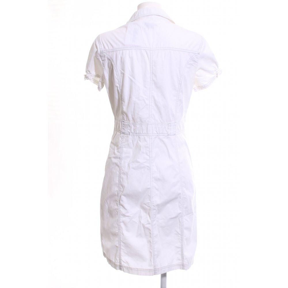 Tchibo / Tcm Hemdblusenkleid Weiß Casuallook Damen Gr De