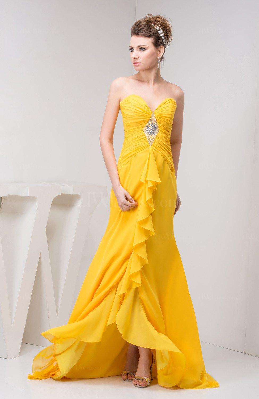 Tea Length Bridesmaid Dress Chiffon Pretty Natural Spring