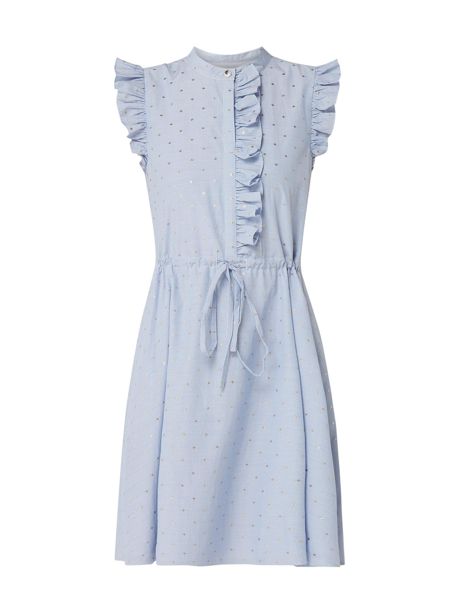 Ted Baker Kleid Mit Rüschenbesatz In Blau / Türkis Online