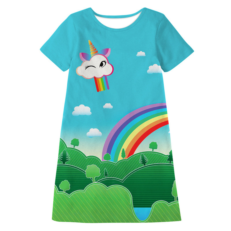 Teenager Regenbogen Party Kleid Mädchen Giraffe