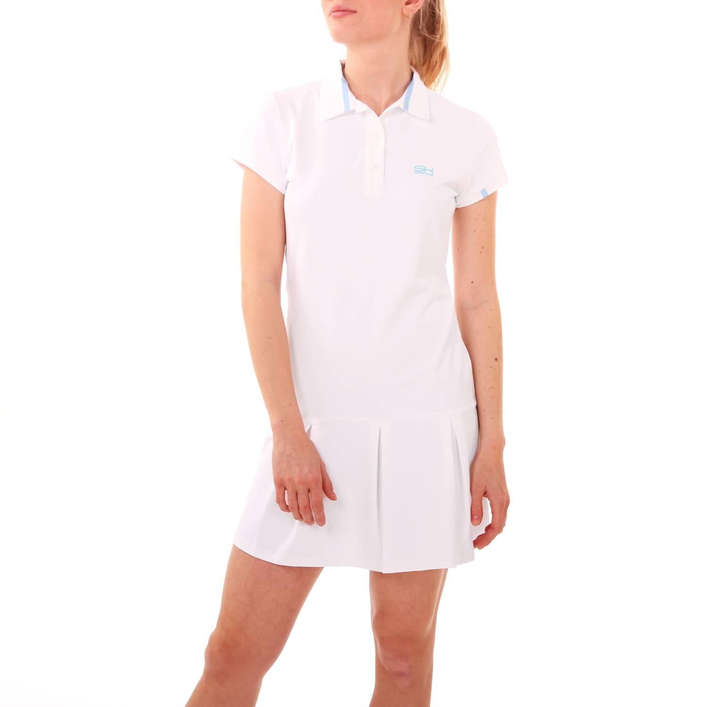Tennis Polokleid Weiß  Tennisbekleidung  Sportkind