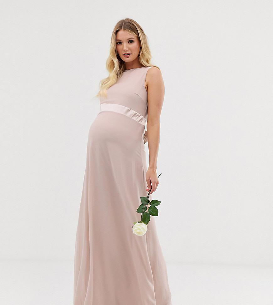 Tfnc Maternity  Exklusives Rosa Brautjungfernmaxikleid