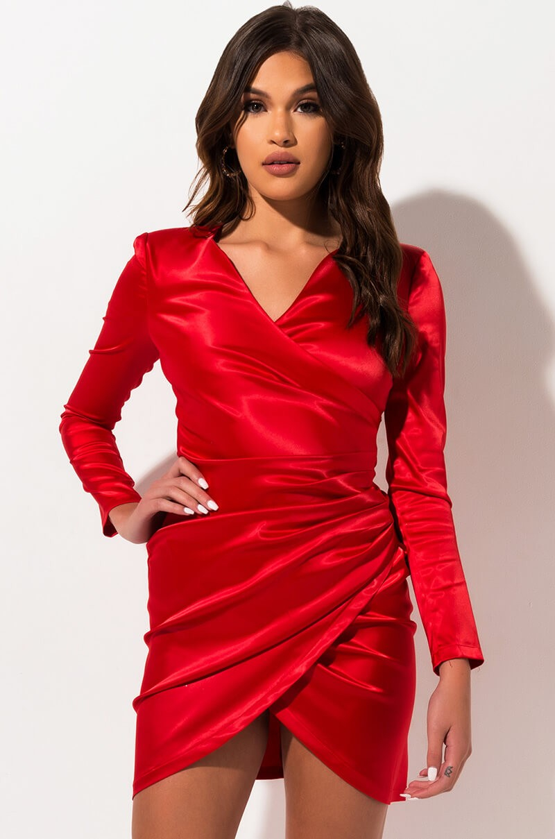 The Akira Label Forever Young Wrap Front Dress Is A Party