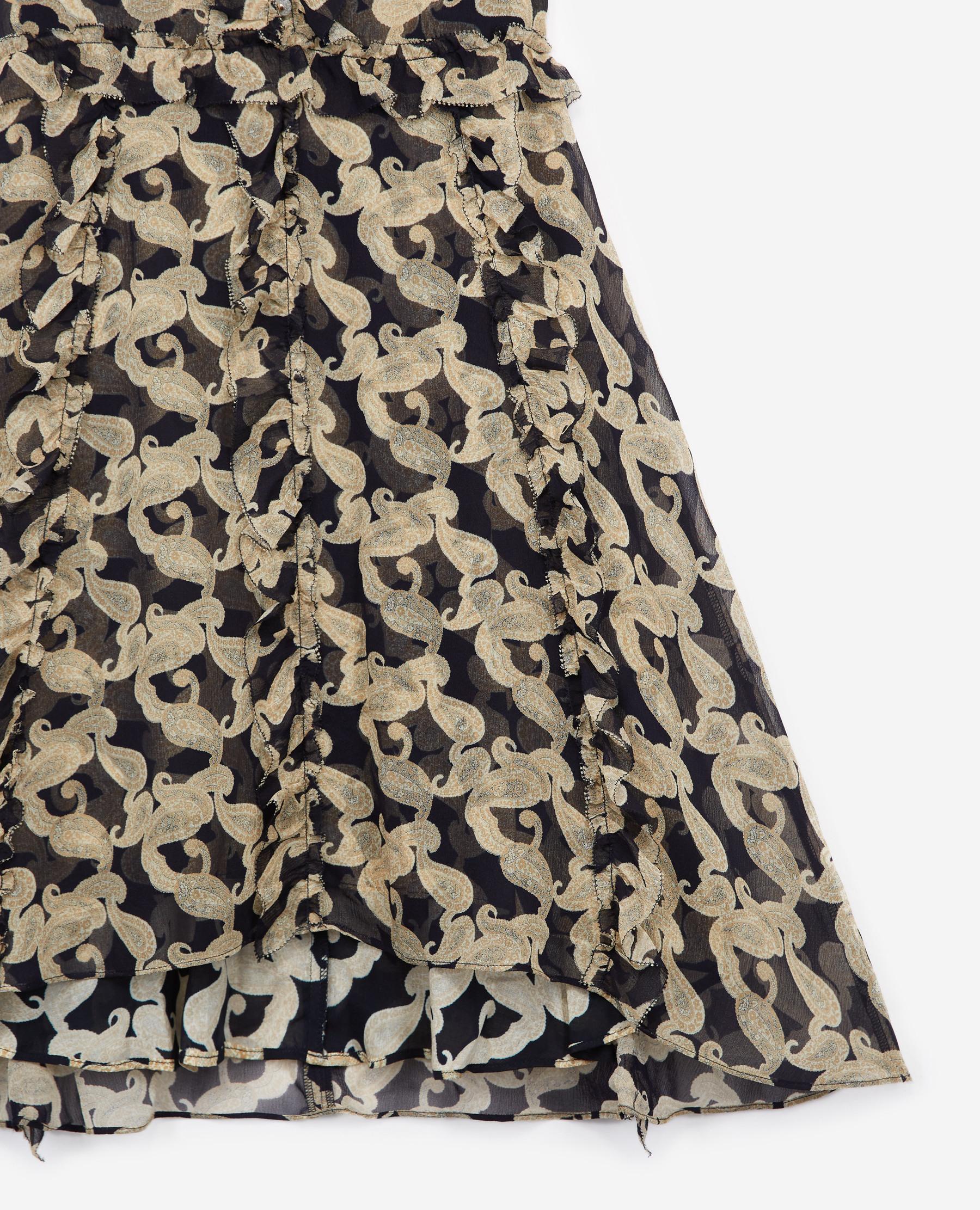 The Kooples Kurzes Kleid In Marineblau Mit Print In Ble