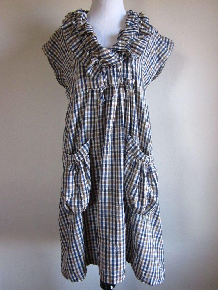 The Masai Clothing Company Plaid Pocket Dress Size M
