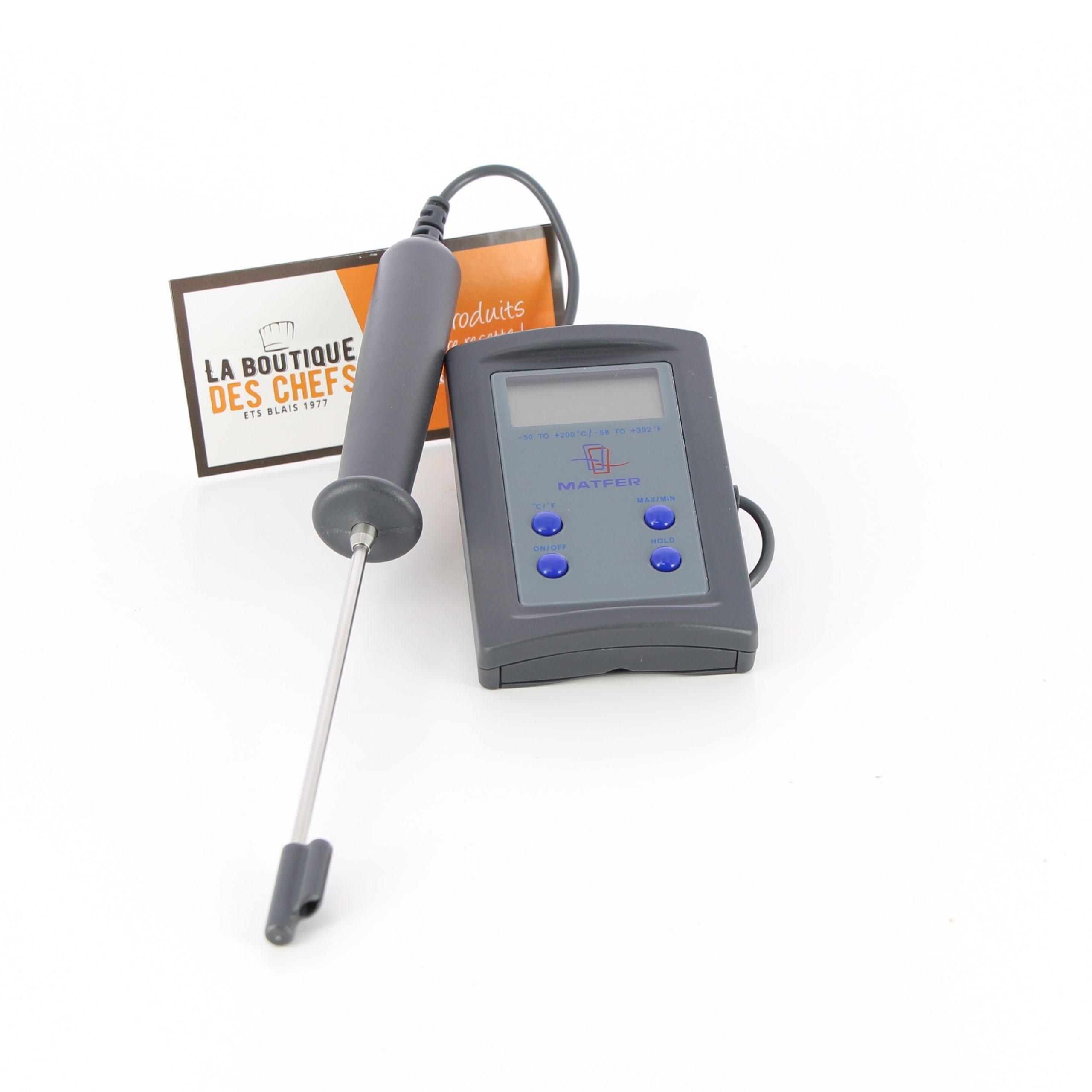 Thermomètre Électronique 50°C À  150°C Sonde Inox  Matfer