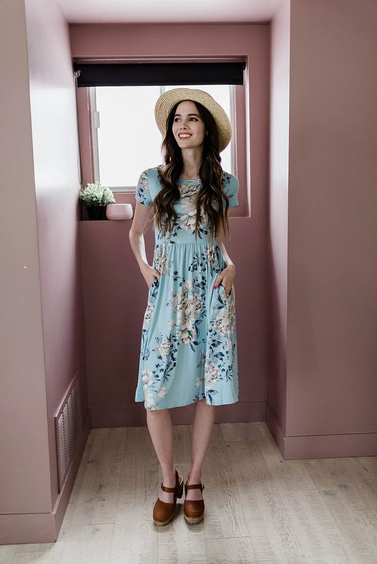 This Light Blue Floral Dress Is Modest It Is