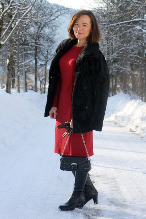 Thomthomas Rath Qvc Collection Red Studded Dress