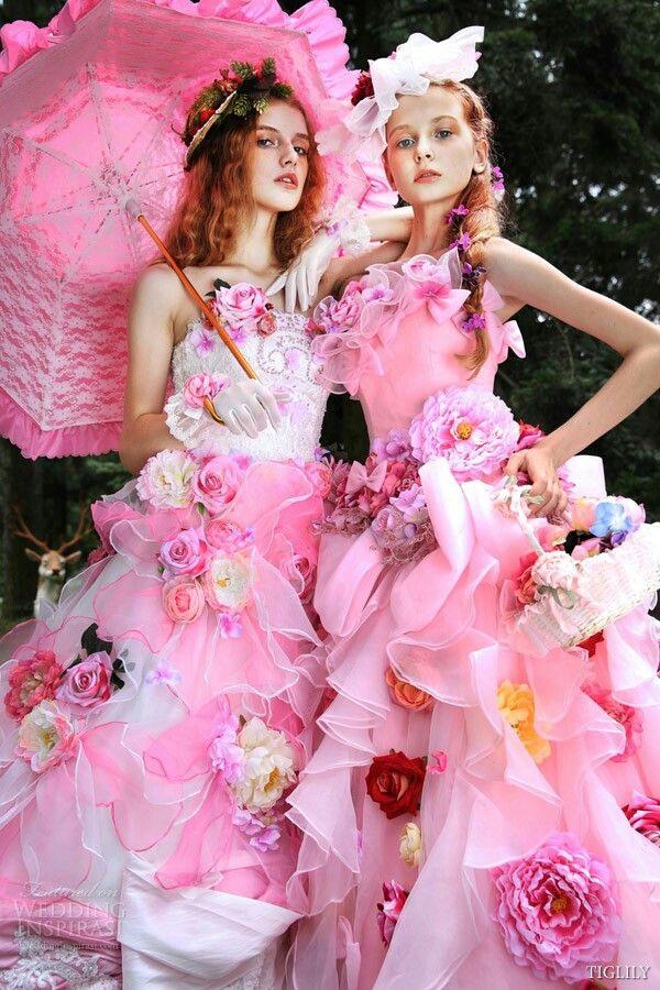Tiglily 2015  Kleid Hochzeit Pinkfarbene