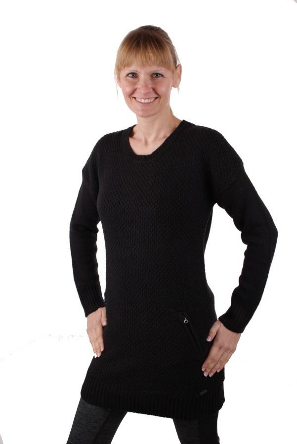 Timberland Damen Pullover Strickkleid Zopfmuster Schwarz