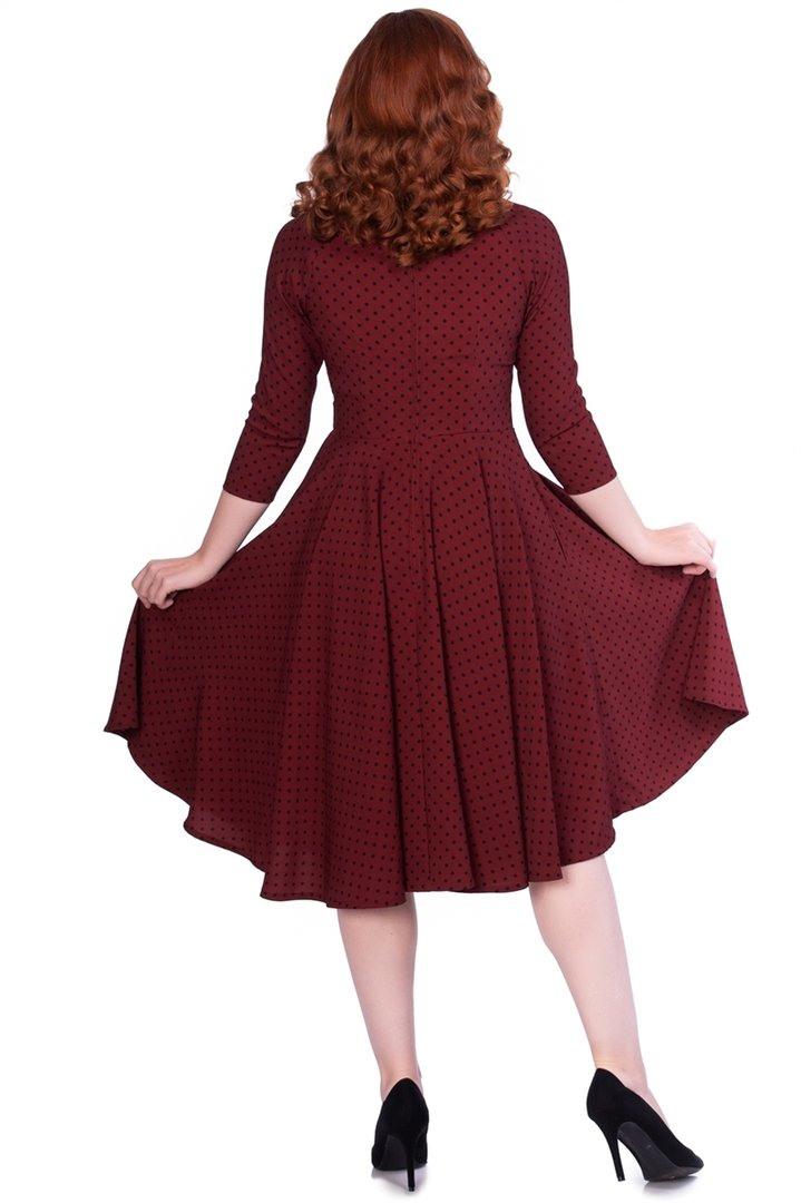 Timeless London 50Er Jahre Rockabilly Punkte Kleid