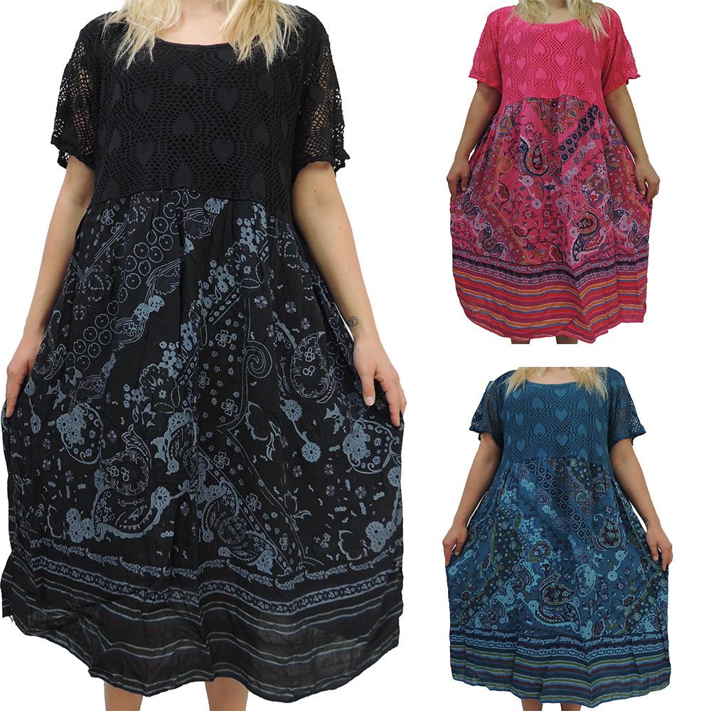 Tolle Kleider Mit Wunderschönem Muster In Großer Größe Bis