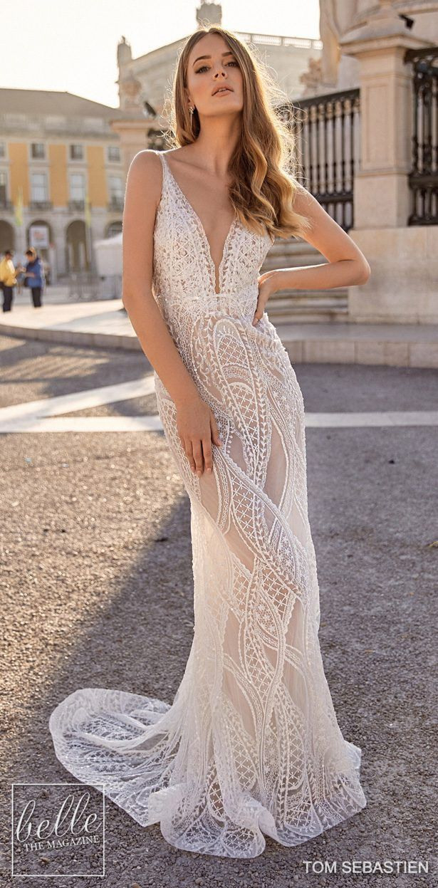 Tom Sebastien Brautkleider 2019  Kleid Hochzeit