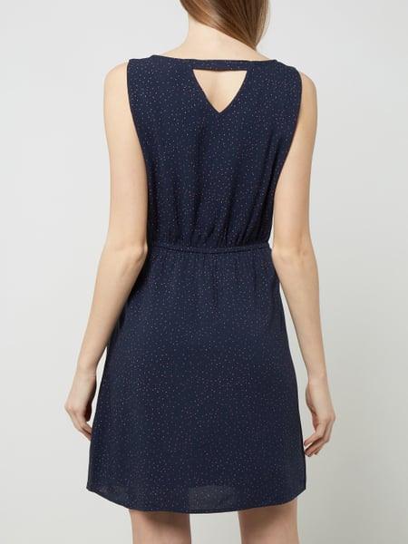 Tom Tailor Denim Kleid Mit Punktmuster In Blau / Türkis