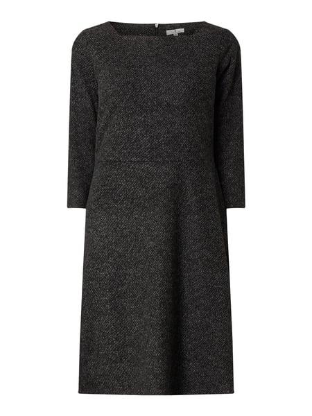 Tom Tailor Kleid In Melangeoptik In Grau / Schwarz Online