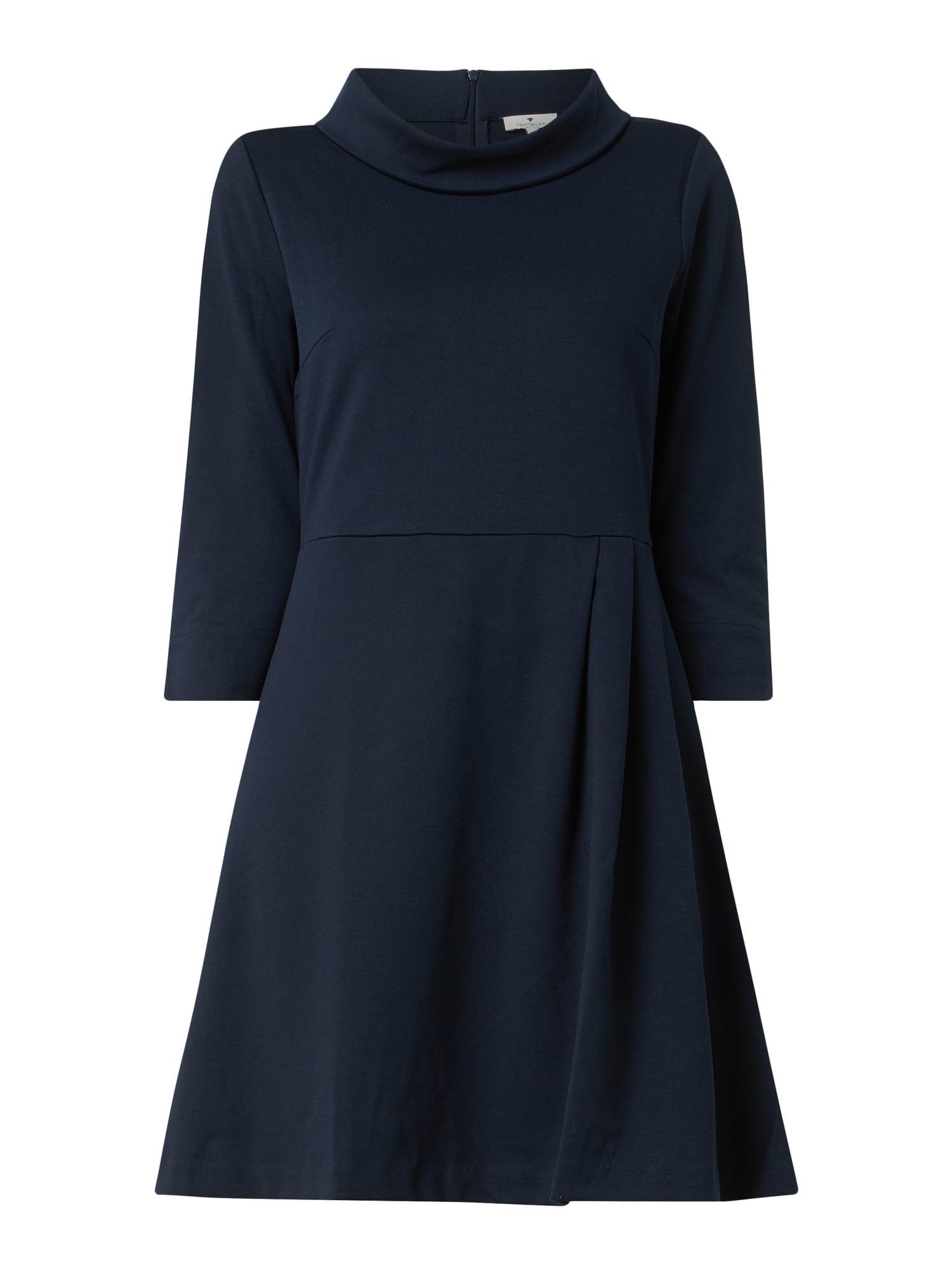 Tom Tailor Kleid Mit Dreiviertelärmeln In Blau / Türkis
