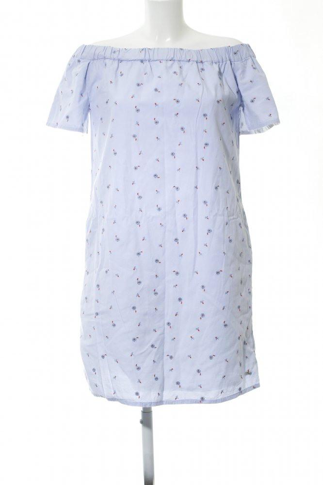 Tommy Hilfiger Alinien Kleid Blau Blumenmuster Casual