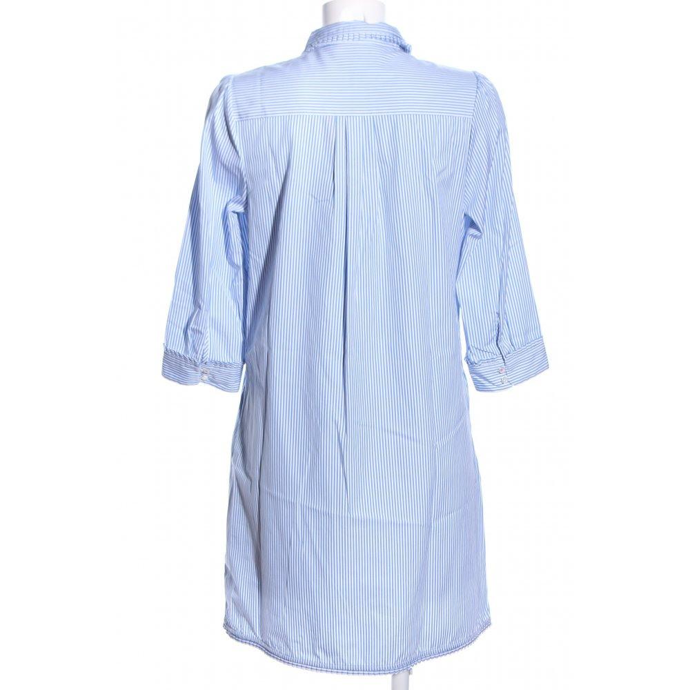 Tommy Hilfiger Hemdblusenkleid Blauweiß Alloverdruck