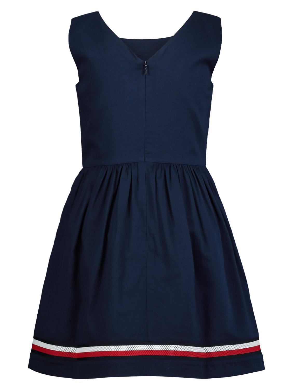 Tommy Hilfiger Kleid Global Stripe Tape Blau Für Mädchen