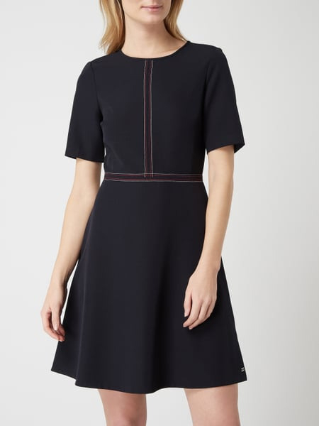 Tommy Hilfiger Kleid Mit Kontrastnähten In Blau / Türkis