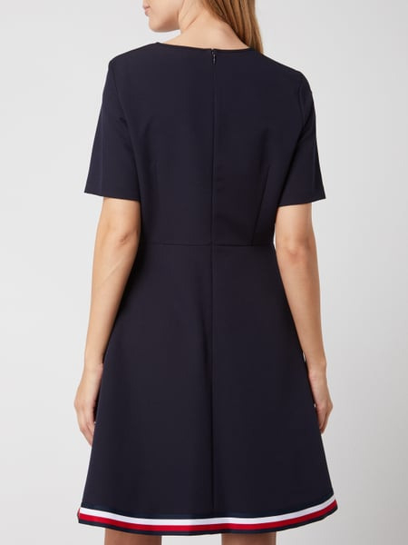 Tommy Hilfiger Kleid Mit Kontrastsaum Modell 'Angela' In