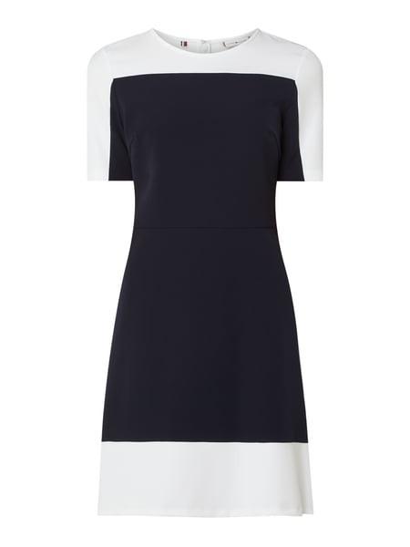 Tommy Hilfiger Kleid Mit Kurzen Ärmeln In Blau / Türkis
