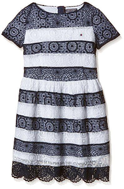 Tommy Hilfiger Mädchen Kleid Dallas Stripe Dress S/S Gr