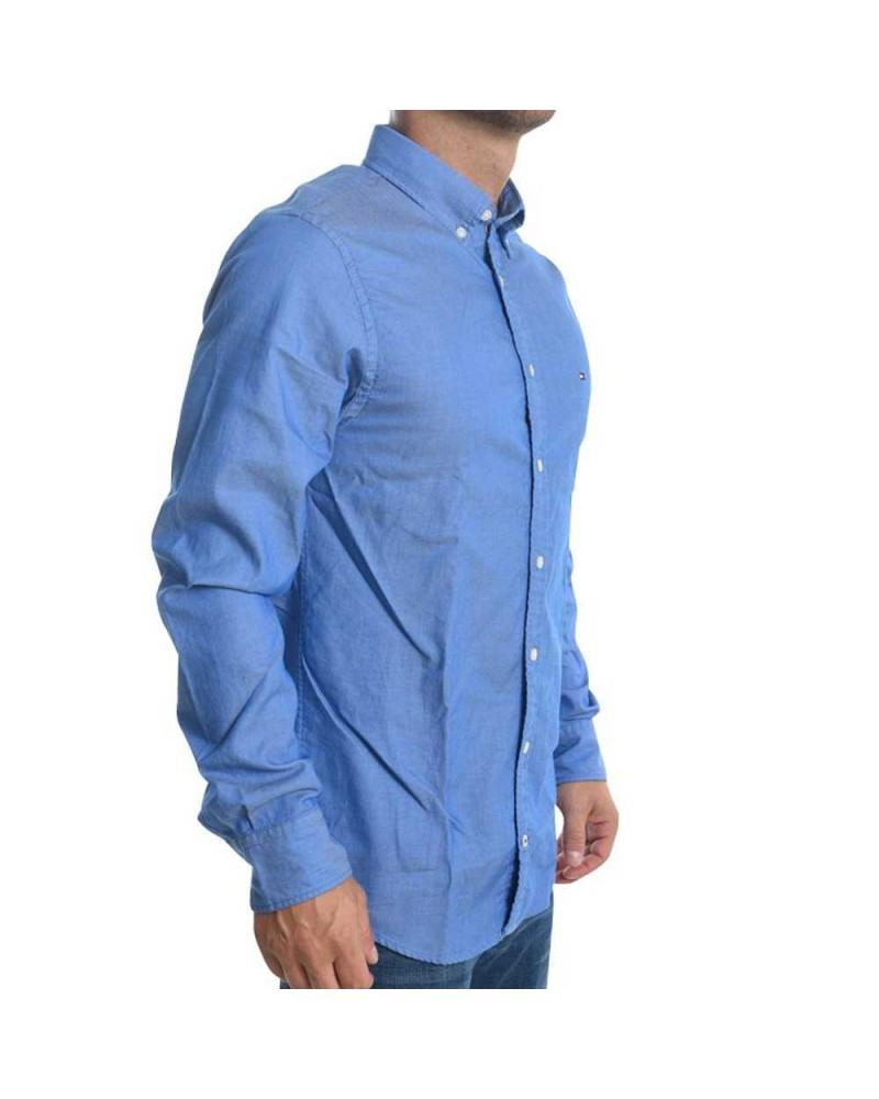 Tommy Hilfiger Mn Hemd Two Tone Dobby 434 Blau Gr S