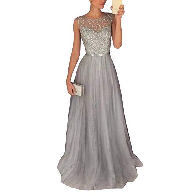 Tomwell Damen Elegant Langes Abendkleid Festliche Kleider