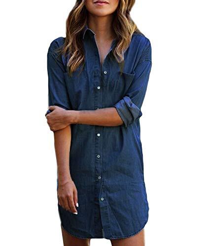 Top 10 Jeanskleid Damen Langarm  Freizeitkleider Für
