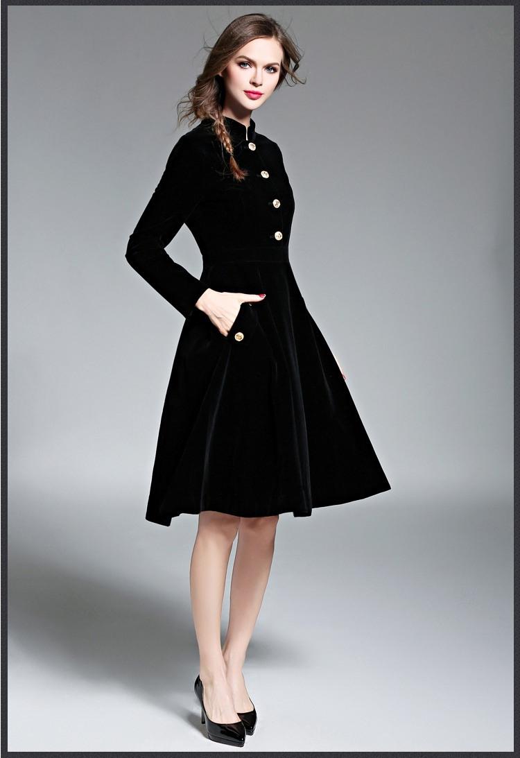 Top Winterkleider Damen Langarm Vertrieb  Abendkleid