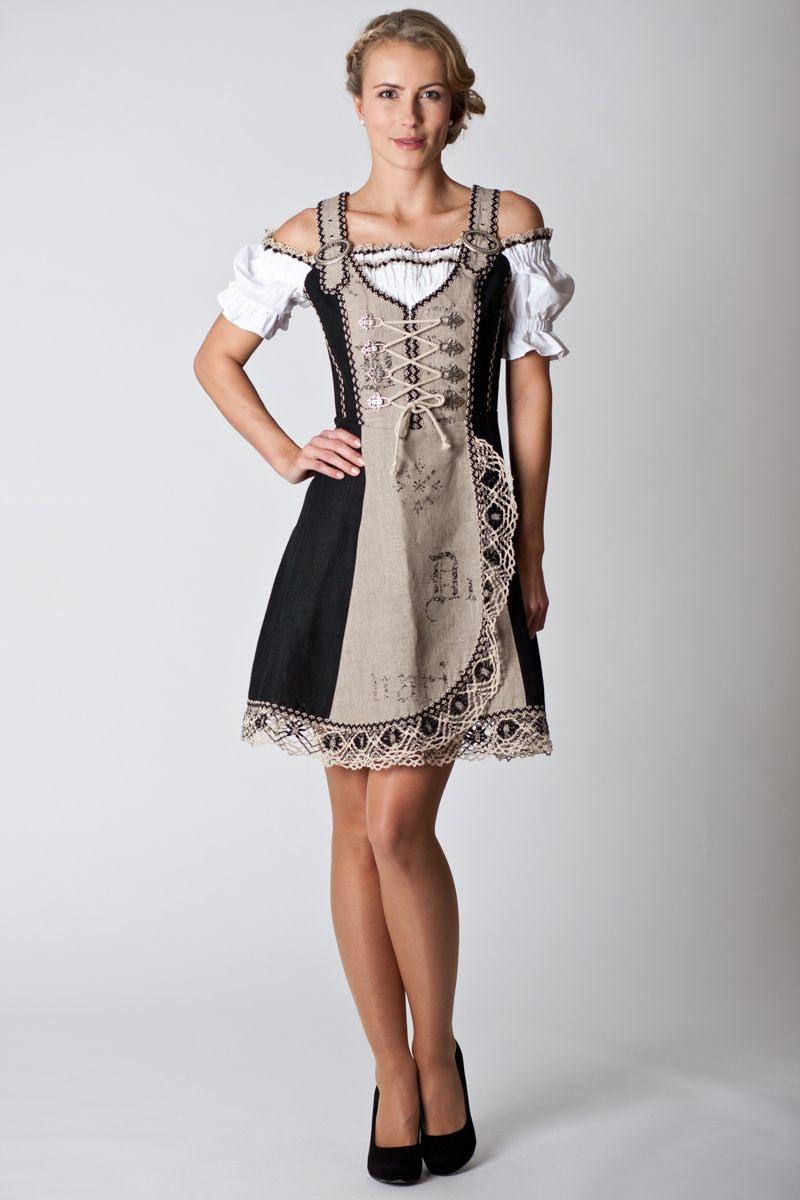 Trachten Kleid Kamilla Beige/Schwarz  Fuchs  Online
