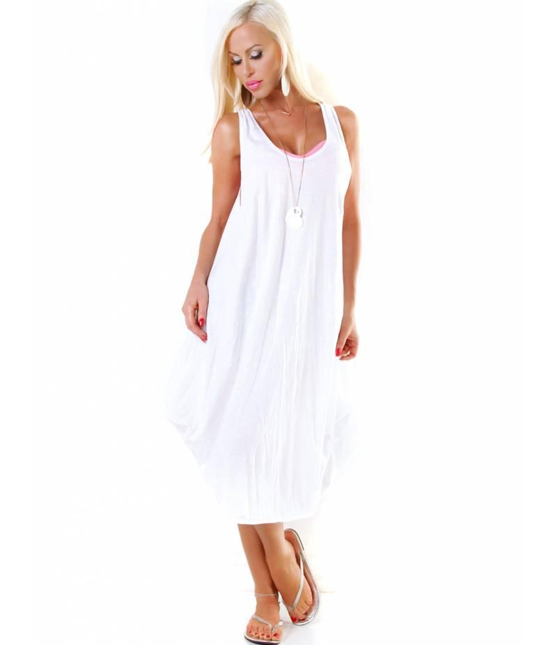 Trägerkleid 5Peoples  Stonewashed  Weiss All Dresses