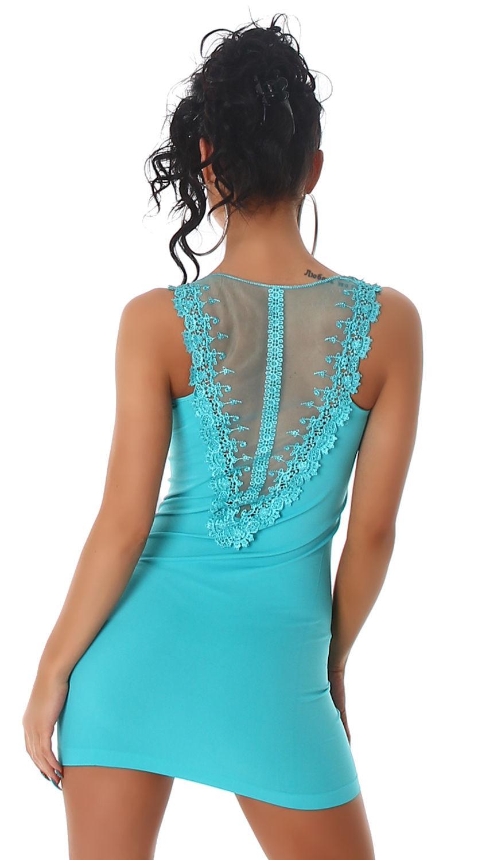 Trägerminikleid Kleid Stretchkleid Mini Uni Sommer Sexy