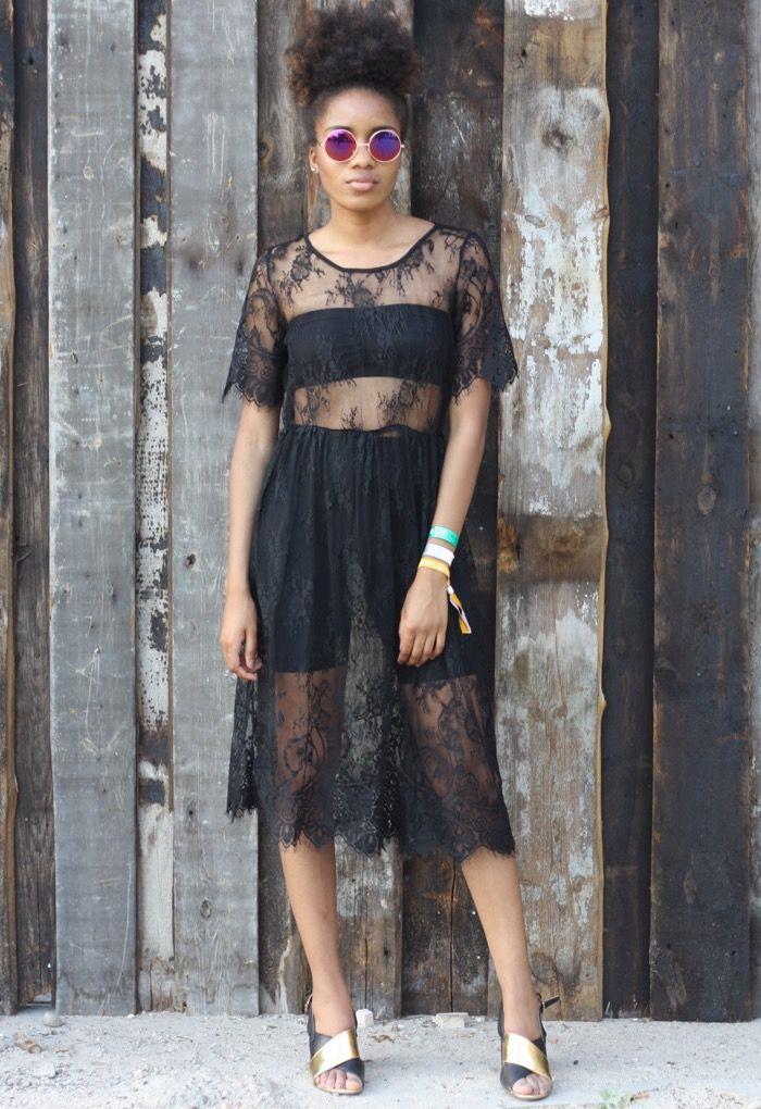 Transparentes Kleid Durchsichtiges Kleid Schwarzes Kleid
