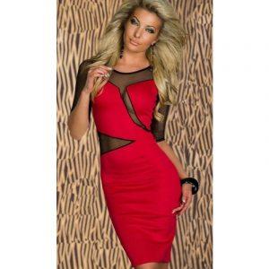 Transparentes Knielanges Kleid 2019 Blau Oder Rot  Rote