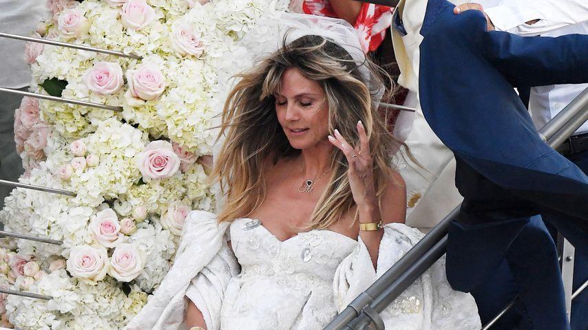 Traumhafte Wolkenrobe Das Ist Heidi Klums Brautkleid