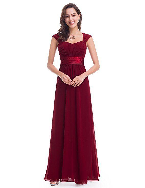Traumhaftes Abendkleid In Bordeaux Rot Das Lange Chiffon