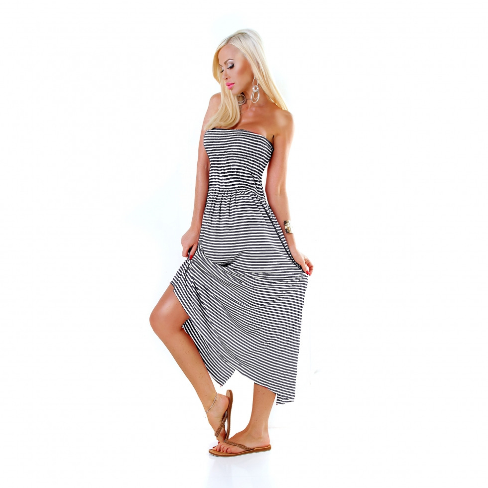 Trendstylez  Gestreiftes Sommer Kleid Rock